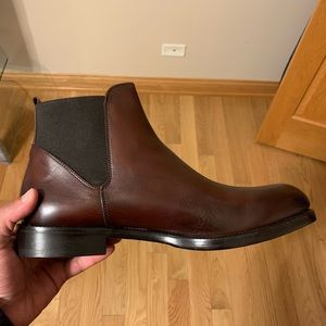 Barney's New York Calf Old Brown Boots 11 M